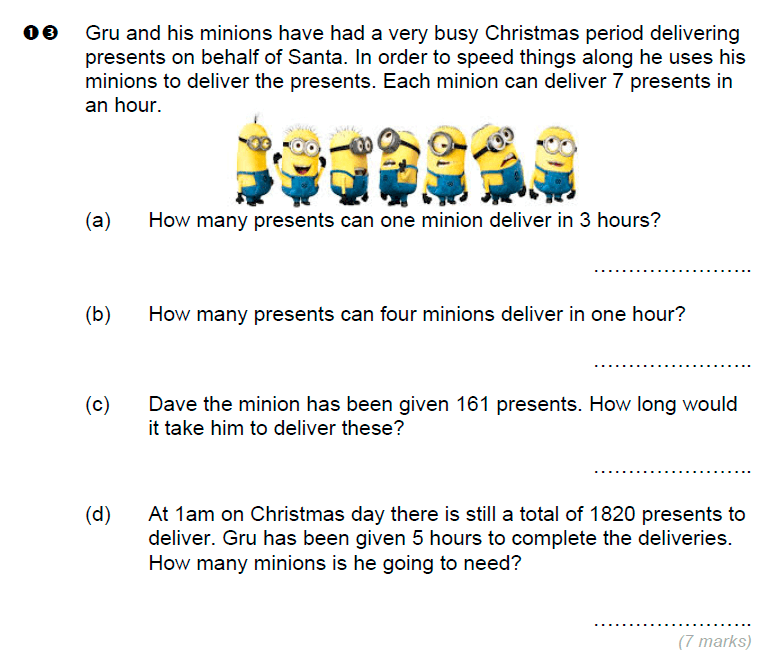 Brentwood school - 11 Plus Maths Sample Paper Question 13