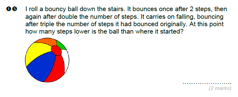 Brentwood school - 11 Plus Maths Sample Paper Question 15