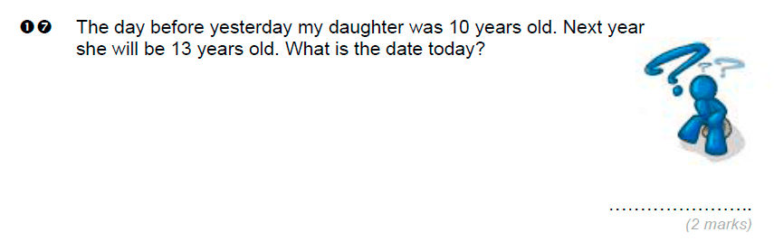 Brentwood school - 11 Plus Maths Sample Paper Question 17
