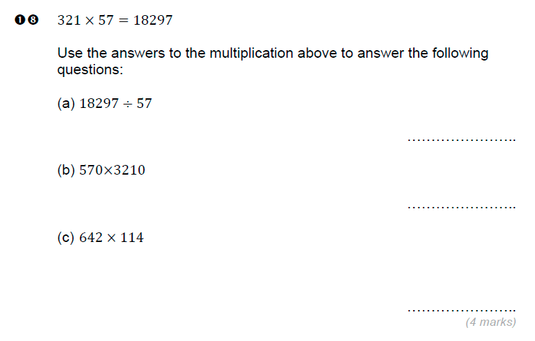 Brentwood school - 11 Plus Maths Sample Paper Question 18