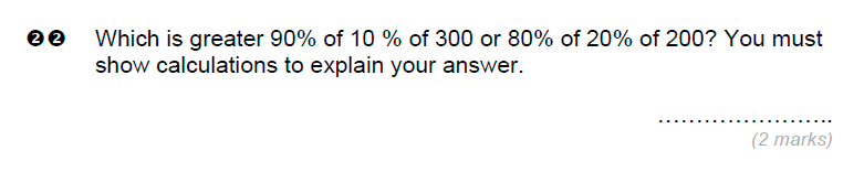Brentwood school - 11 Plus Maths Sample Paper Question 22