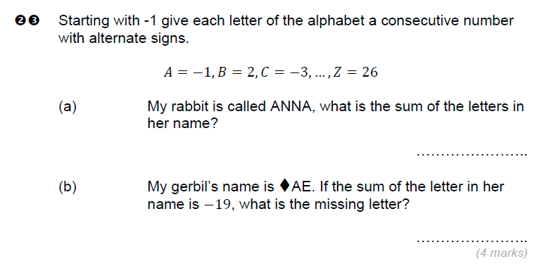 Brentwood school - 11 Plus Maths Sample Paper Question 23