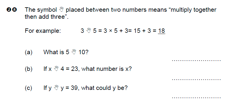 Brentwood school - 11 Plus Maths Sample Paper Question 28