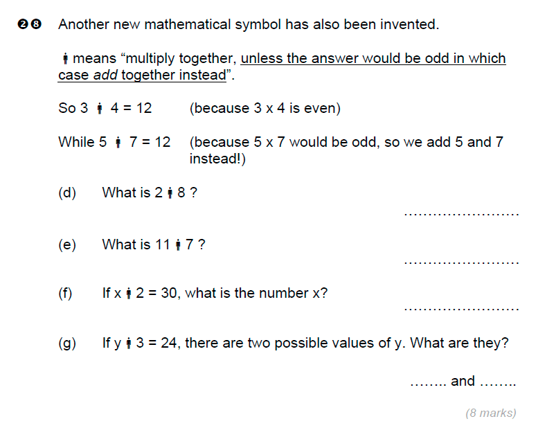 Brentwood school - 11 Plus Maths Sample Paper Question 29