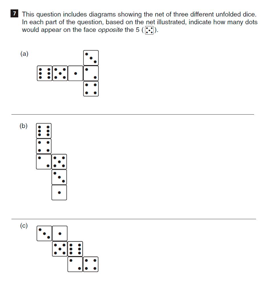 CSSE Familiarisation Maths paper Question 07