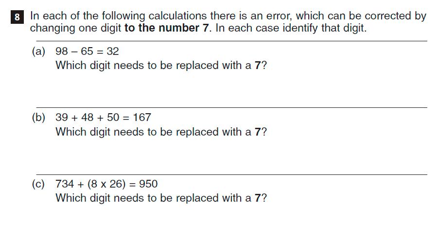 CSSE Familiarisation Maths paper Question 08