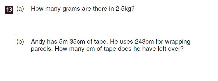CSSE Familiarisation Maths paper Question 13