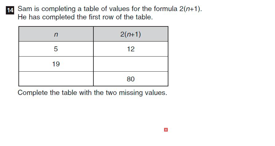 CSSE Familiarisation Maths paper Question 14