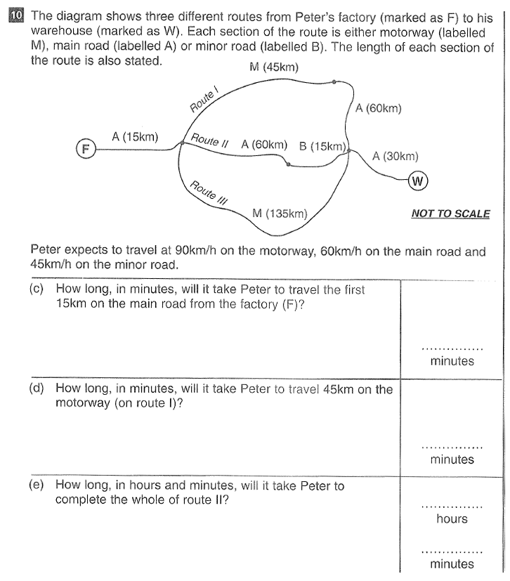 CSSE Maths 2016 Entry Question 16