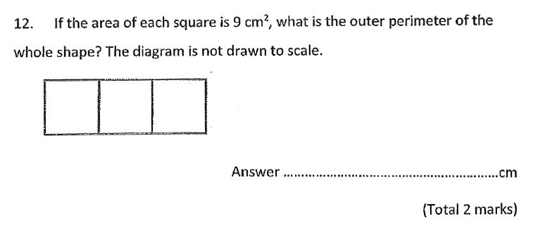 Chigwell School - 11 Plus Maths Specimen Paper 2020 entry Question 12