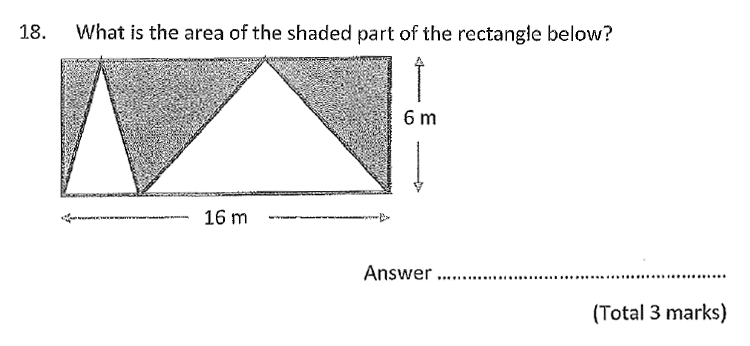 Chigwell School - 11 Plus Maths Specimen Paper 2020 entry Question 18