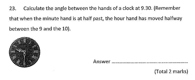 Chigwell School - 11 Plus Maths Specimen Paper 2020 entry Question 23