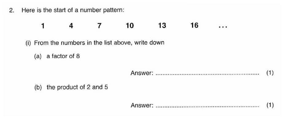 ISEB 11 Plus Maths 2008-09 Practice Paper Question 03