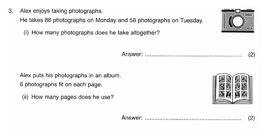 ISEB 11 Plus Maths 2008-09 Practice Paper Question 05