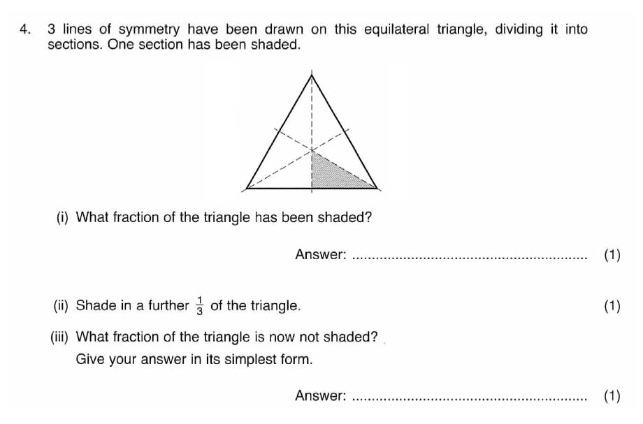 ISEB 11 Plus Maths 2008-09 Practice Paper Question 07