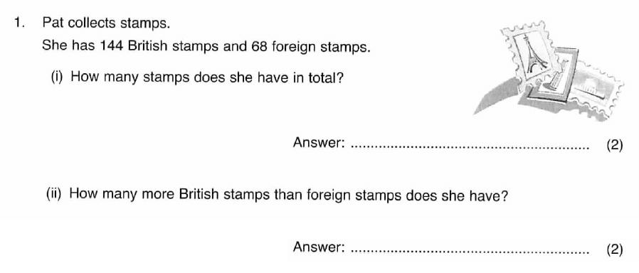 ISEB 11 Plus Maths 2008 Practice Paper Question 01