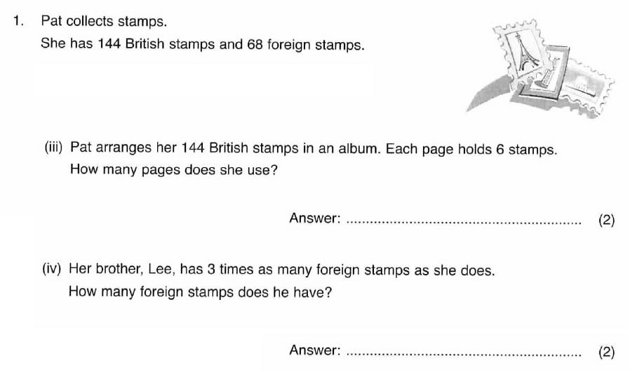 ISEB 11 Plus Maths 2008 Practice Paper Question 02