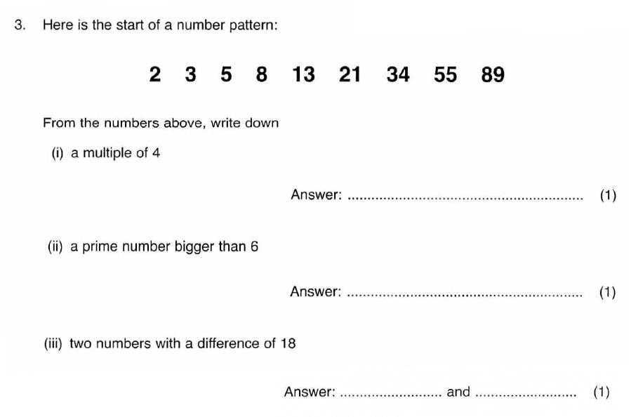 ISEB 11 Plus Maths 2008 Practice Paper Question 05