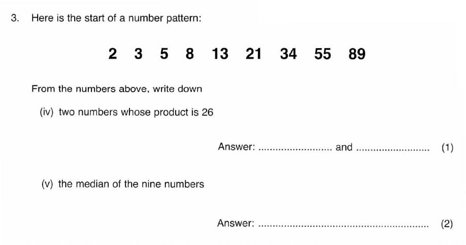 ISEB 11 Plus Maths 2008 Practice Paper Question 06