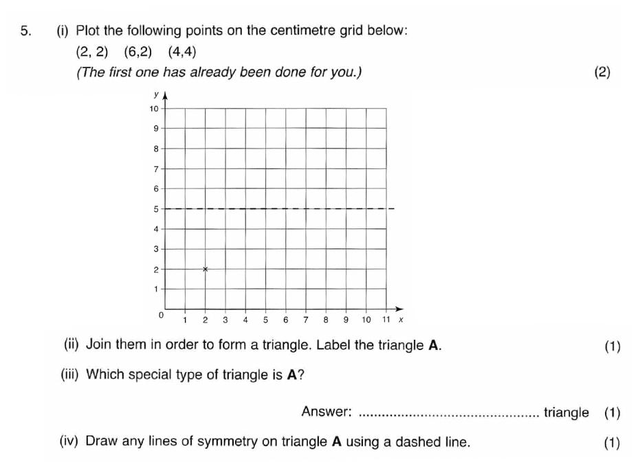 ISEB 11 Plus Maths 2008 Practice Paper Question 09