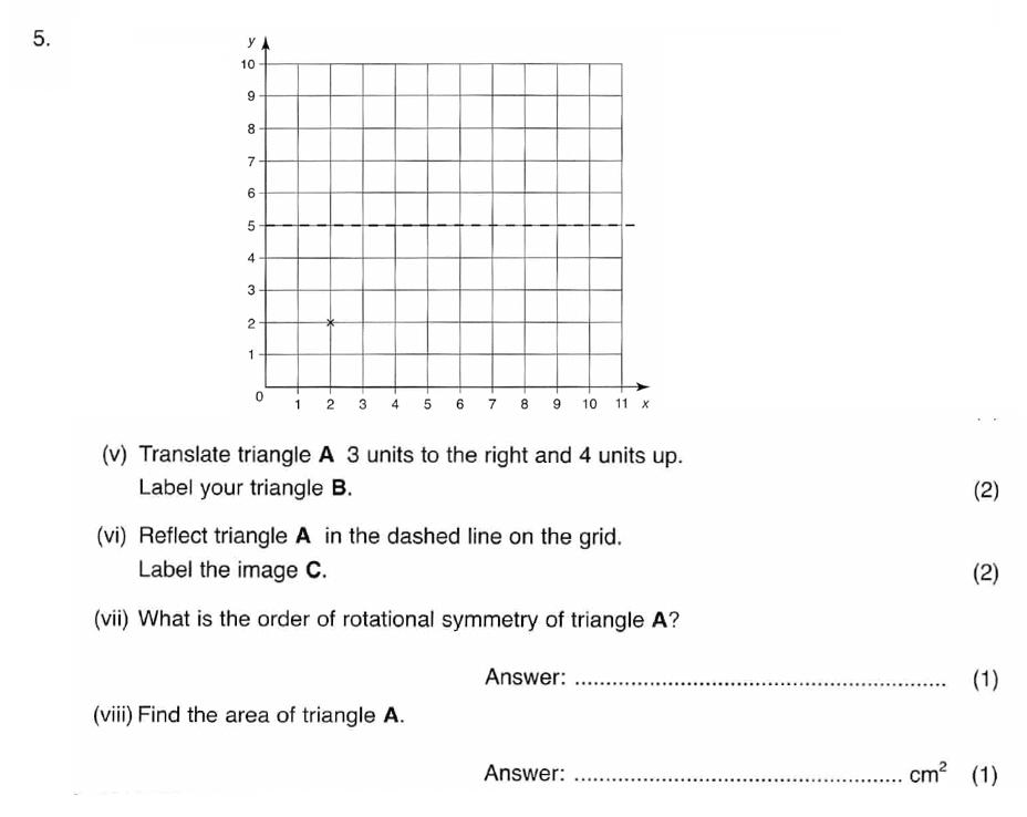 ISEB 11 Plus Maths 2008 Practice Paper Question 10