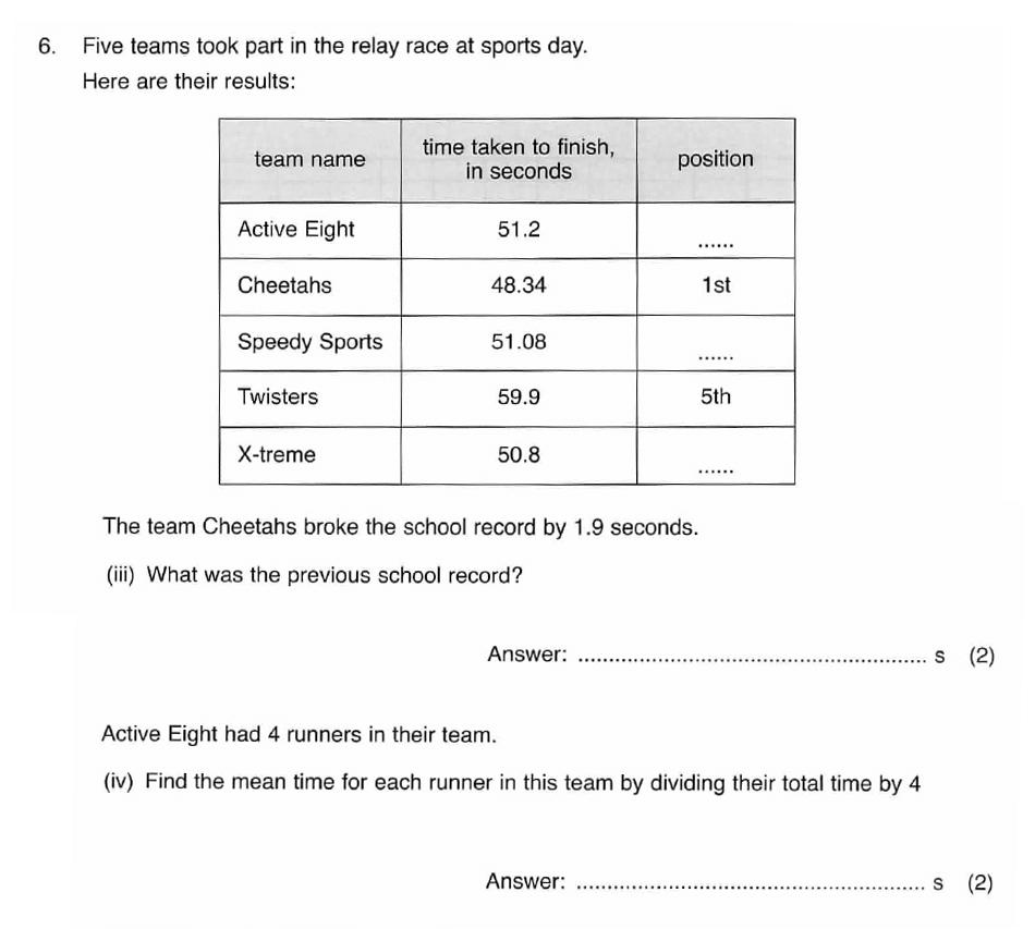 ISEB 11 Plus Maths 2008 Practice Paper Question 12