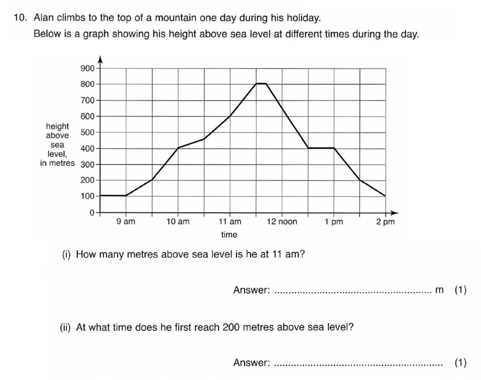 ISEB 11 Plus Maths 2008 Practice Paper Question 20