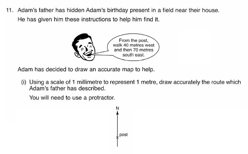 ISEB 11 Plus Maths 2008 Practice Paper Question 22