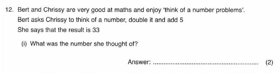 ISEB 11 Plus Maths 2008 Practice Paper Question 24