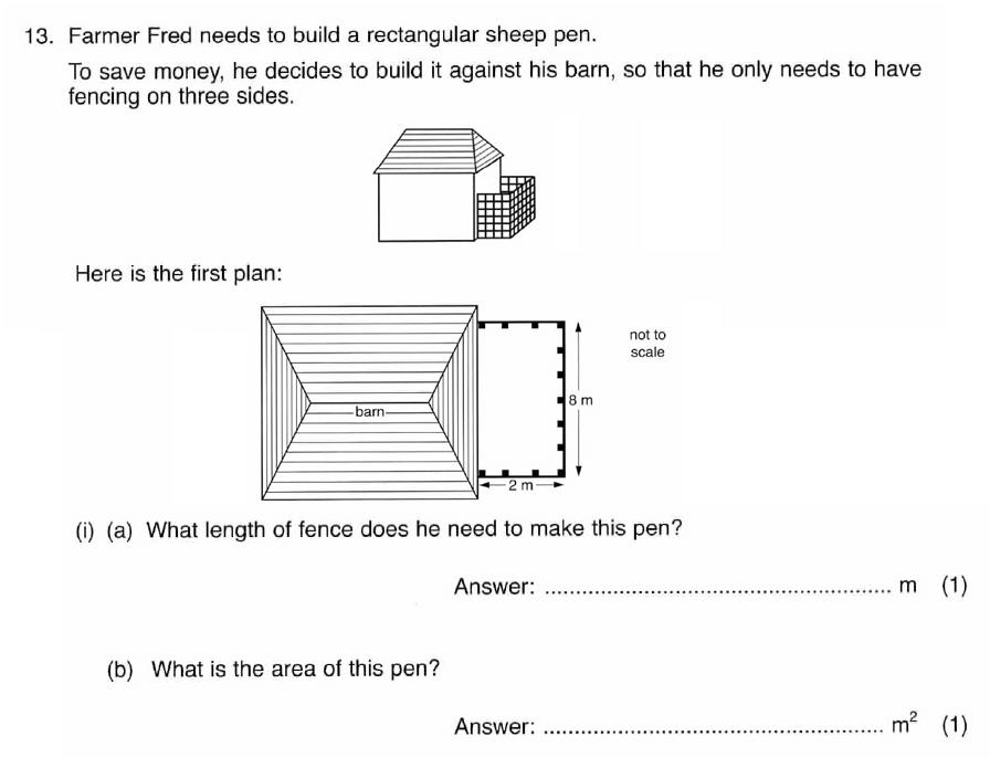 ISEB 11 Plus Maths 2008 Practice Paper Question 27