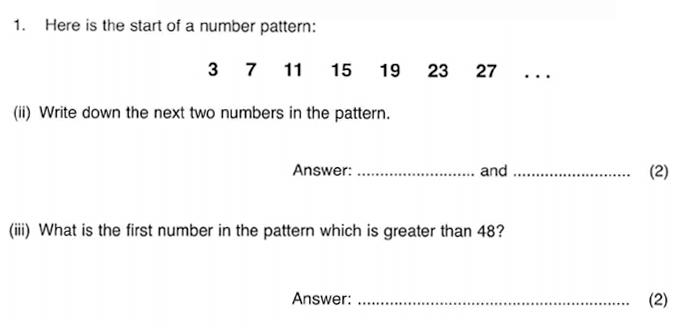 ISEB 11 Plus Maths 2009-10 Practice Paper Question 02