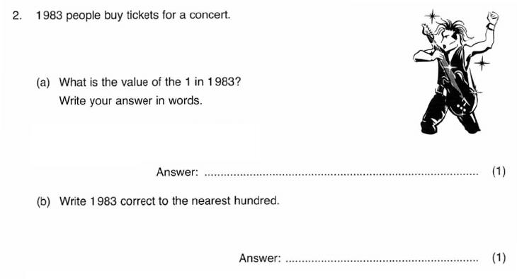 ISEB 11 Plus Maths 2009-10 Practice Paper Question 03