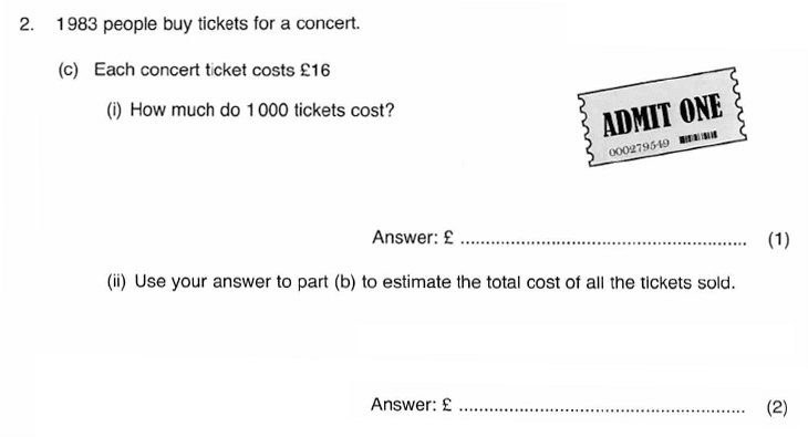 ISEB 11 Plus Maths 2009-10 Practice Paper Question 04