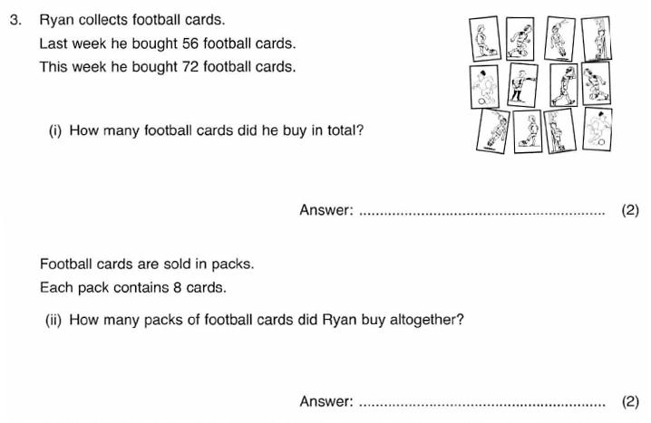 ISEB 11 Plus Maths 2009-10 Practice Paper Question 05