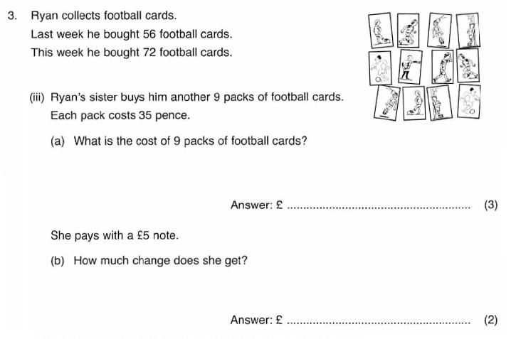 ISEB 11 Plus Maths 2009-10 Practice Paper Question 06