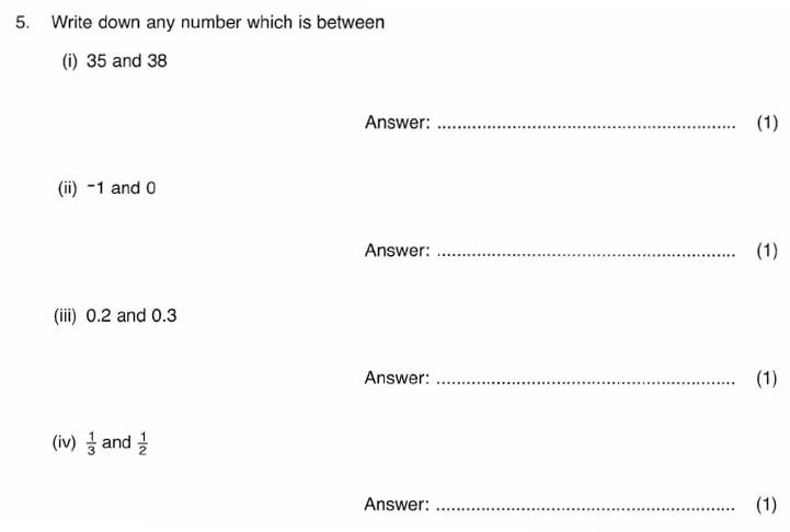 ISEB 11 Plus Maths 2009-10 Practice Paper Question 08
