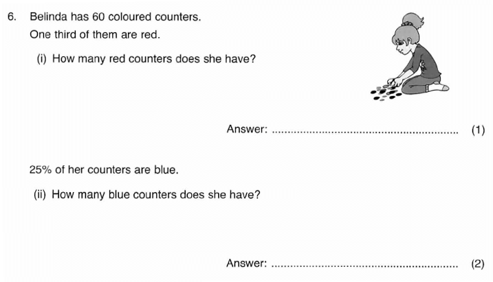ISEB 11 Plus Maths 2009-10 Practice Paper Question 09