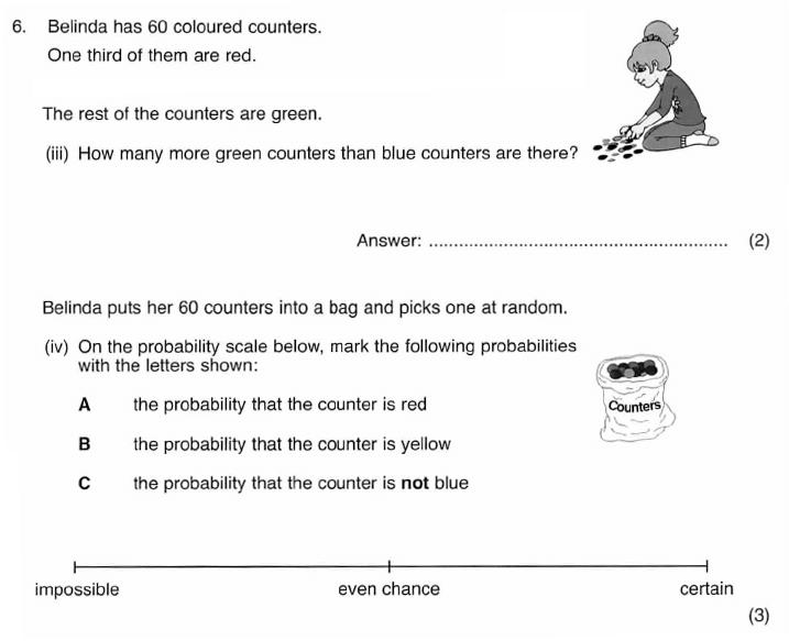 ISEB 11 Plus Maths 2009-10 Practice Paper Question 10