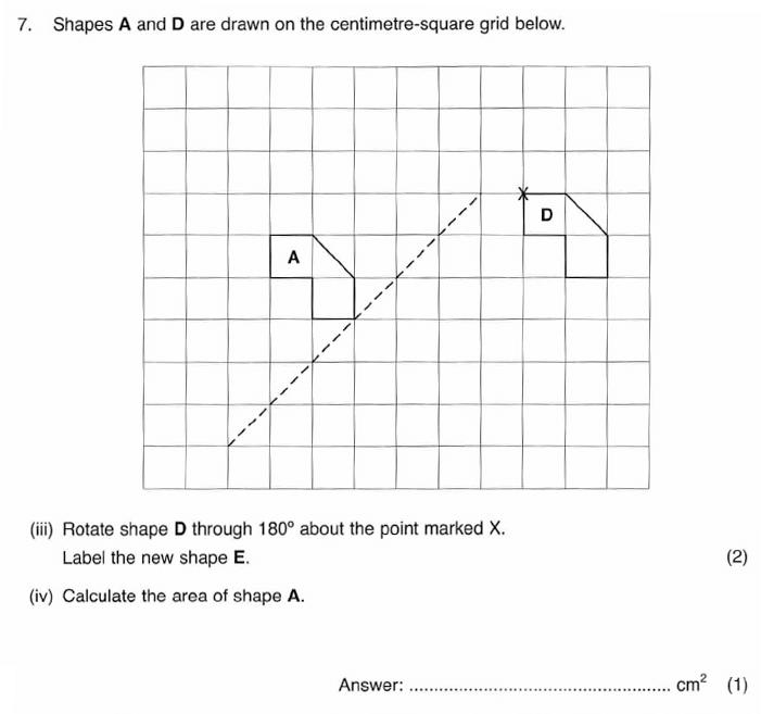 ISEB 11 Plus Maths 2009-10 Practice Paper Question 12