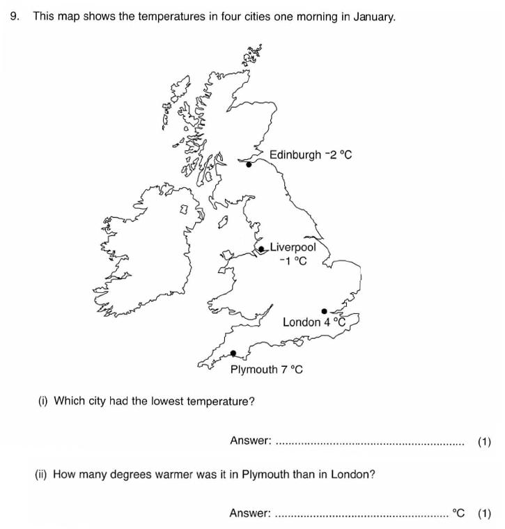 ISEB 11 Plus Maths 2009-10 Practice Paper Question 14