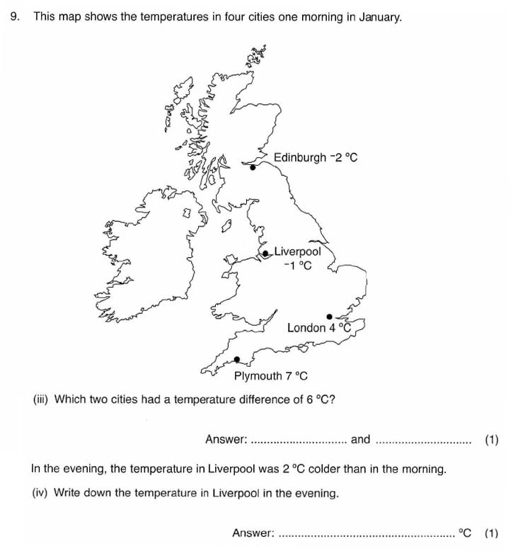 ISEB 11 Plus Maths 2009-10 Practice Paper Question 15