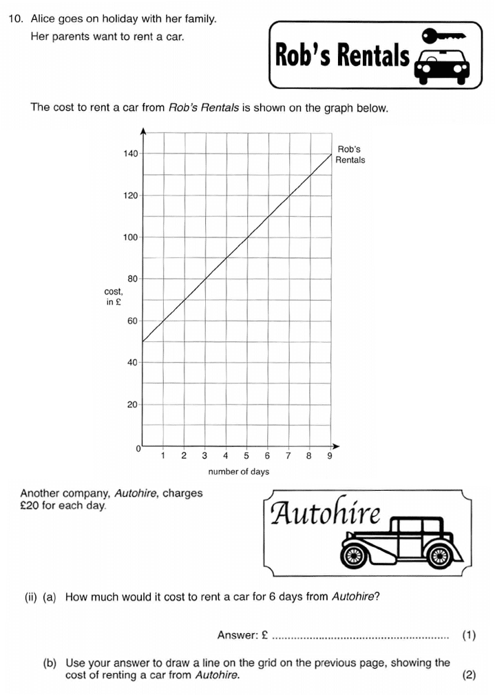 ISEB 11 Plus Maths 2009-10 Practice Paper Question 17