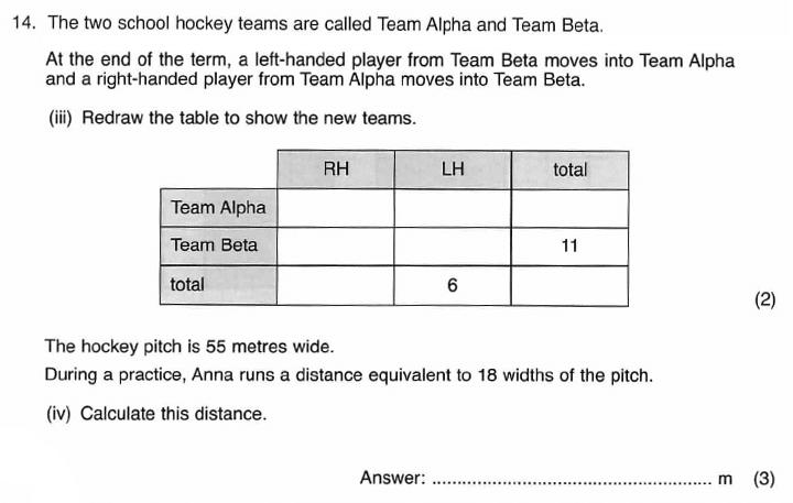 ISEB 11 Plus Maths 2009-10 Practice Paper Question 25