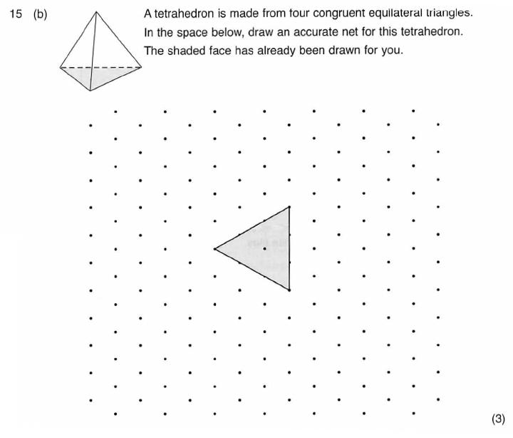 ISEB 11 Plus Maths 2009-10 Practice Paper Question 27