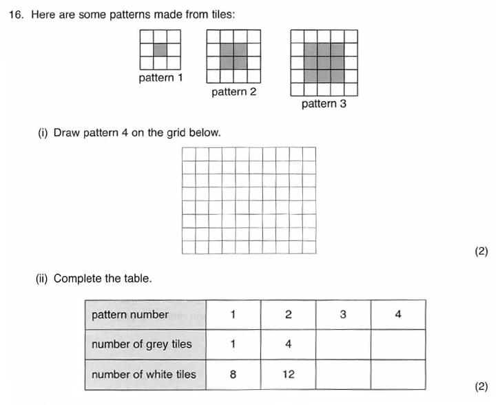 ISEB 11 Plus Maths 2009-10 Practice Paper Question 28