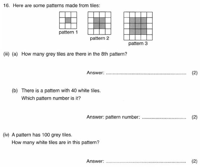 ISEB 11 Plus Maths 2009-10 Practice Paper Question 29