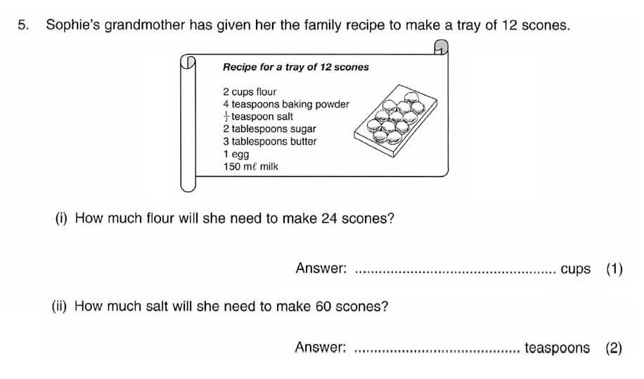 ISEB 11 Plus Maths 2009 Practice Paper Question 05
