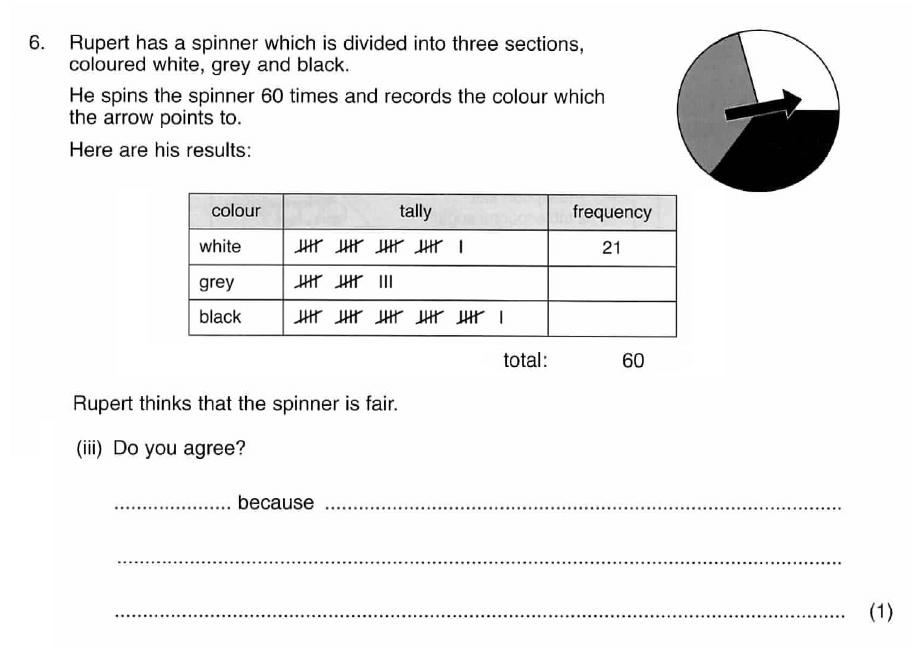 ISEB 11 Plus Maths 2009 Practice Paper Question 08