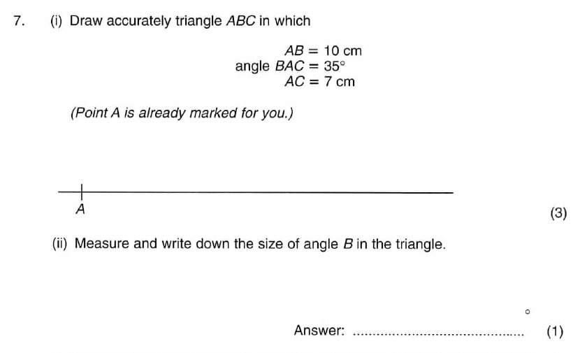 ISEB 11 Plus Maths 2009 Practice Paper Question 09