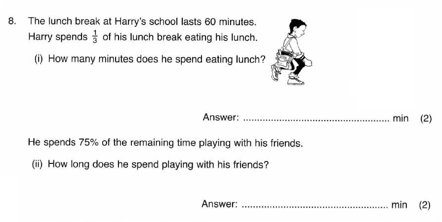 ISEB 11 Plus Maths 2009 Practice Paper Question 10